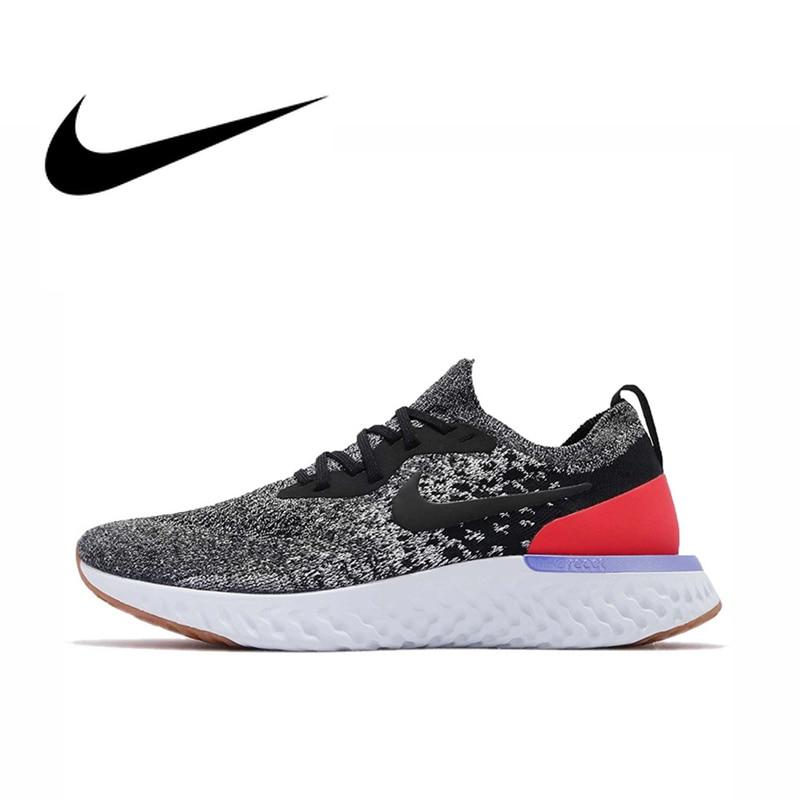 Original Nike Epic React Flyknit Men's Running Shoes Sport Outdoor Sneakers Massage Jogging Walking Athletic Designer AQ0067-006