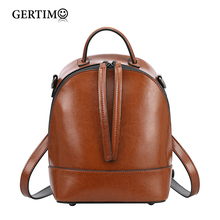 Famous Luxury Brand Designer Genuine Leather Backpack Women Small Backpacks Rucksack Double Zipper School Bags For Teen Girls