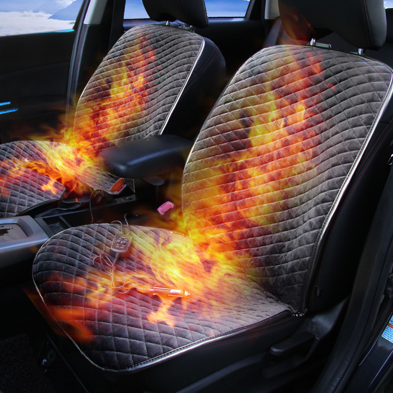 2019 Winter Car Front Seat Heated Cushion Car Office Chairs Electric Heated Seat Cushion Carbon Fiber
