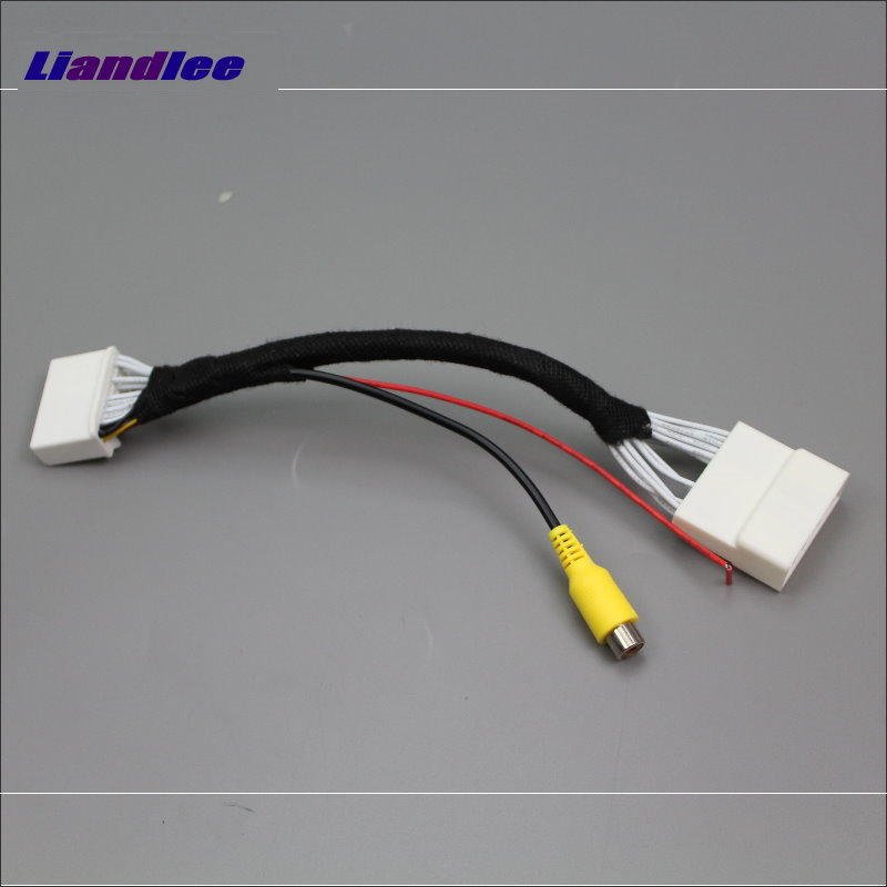 Liandlee Original Video Input Switch RCA Adapter Connector Wire Cable For Toyota Yaris / Scion iA 2013~2017 Rear View Camera