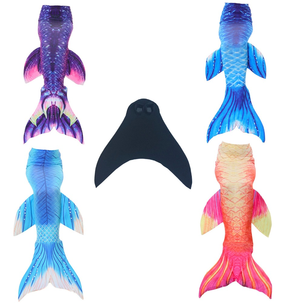 2 piece Girl's Mermaid Tails For Swimming Costume with Monofin for Kids girl swimmable mermaid tail Dress W fin Cosplay 2017 NEW