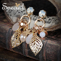 Special New Fashion Opal Stud Earrings Luxurious Gold-plated Rhinestones Ear Piercing Jewelry Gifts for Women ED16068