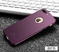 Para iphone 7 plus caso msvii magro rígido de silicone scrub capa luxo pc tampa traseira para apple iphone 7 6 6 s plus se 5S 5 telefone casos