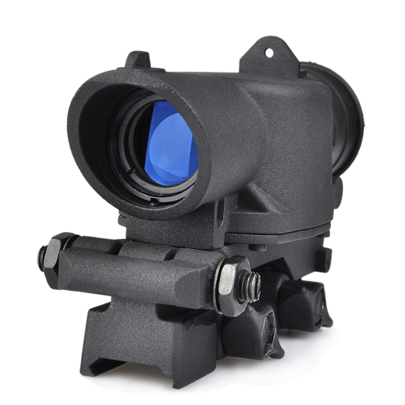 SEIGNEER Tactics NEW SUSAT 4X Scope For L85 Series Sight Rifle Scope Quick Detach Weaver Mount Red Illuminated Fit 20mm Rail
