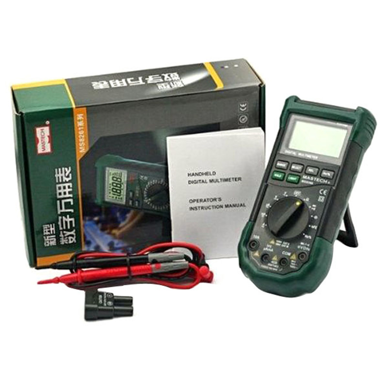 Mastech MS8268 LCD Screen Sound AC/DC Auto/Manual Range Digital Multimeter VED93 T0.05  цены