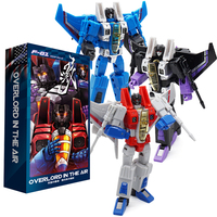 3pcs Set NEW Transformation MFT Starscream Ramjet Dirge Skywarp Thundercracker Air Plane Troop Action Figure 11cm