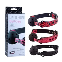 Free Shipping New Sexy Red and Black Adjustable Soft Solid Mouth Gag Ball Harness with Strap Harness Adult Games Sex Products