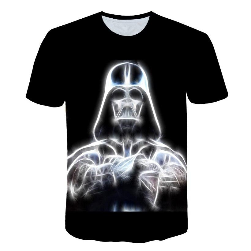 Image 2 - T shirt New high quality mens t shirts Star Wars cartoon  costumes movie t shirts harajuku adult darth vader funny mens t  shirtT-Shirts