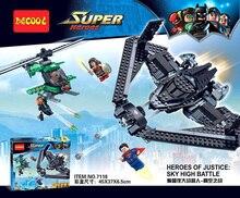 Decool 7118 Building Blocks Superes Heroes Batman of justice SKY high Battle Minifigures Children Blocks Toy