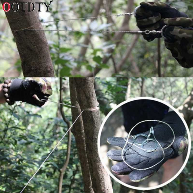 OOTDTY Emergency Survival Gear Steel Wire Saw Camping Hiking Hunting Climbing Gear