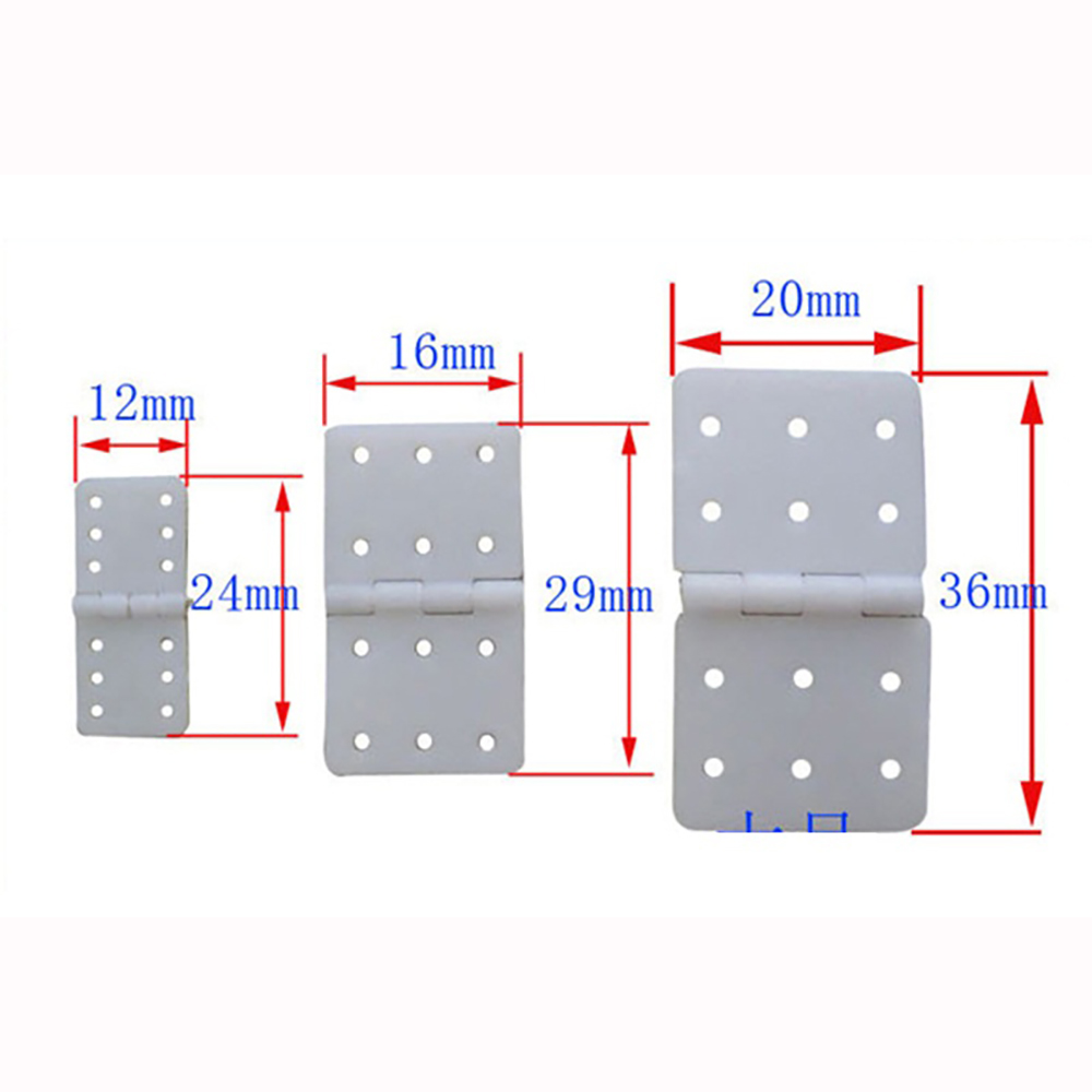 20pcs RC Hinge Plastic Hinge Servo Linker For RC Airplane Hobby Plane Helicopter Quadcopter