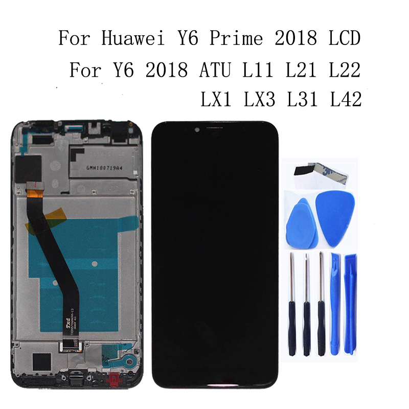 "5.7"" NEW LCD for Huawei Y6 2018 LCD Monitor with Frame ATU L11 L21 L22 LX3 LCD + Touch Screen Digitizer Repair Accessorie+Tools-in Mobile Phone LCD Screens from Cellphones & Telecommunications"