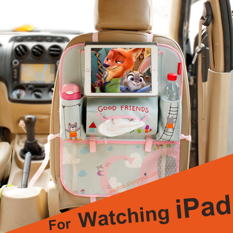 Children Cartoon Car Seat Back Storage Hang Bag Organizer Baby Bag Seat Diaper Mummy Bag Automobile Accessories For Ipad