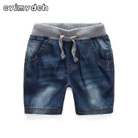 Summer Boy Denim Shorts 2 Colors Elastic Waist Children Boy Shorts Beach Shorts Baby Boy Clothes