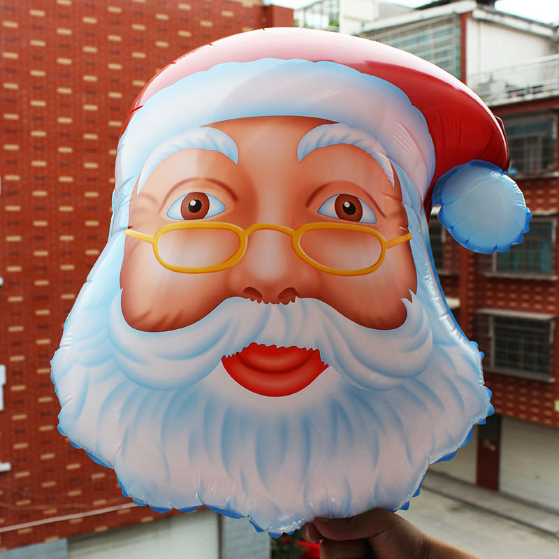 100pcs lot New 51 45CM Christmas balloon foil ballon party decoration globos Santa claus navidad baloes enfeites de natal in Ballons Accessories from Home Garden
