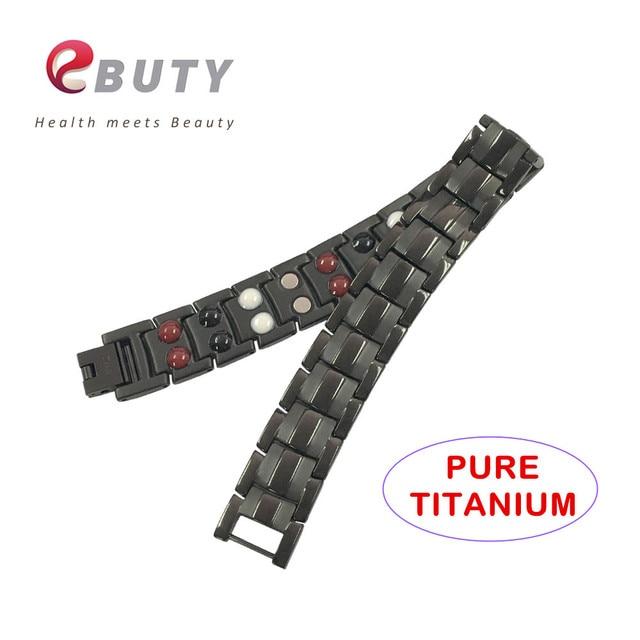3c6451ef70d EBUTY Titane Magnétique Bracelet Avec SAPIN Germanium Anions Énergie Santé Bracelets  Bracelets Meilleur Cadeau avec la