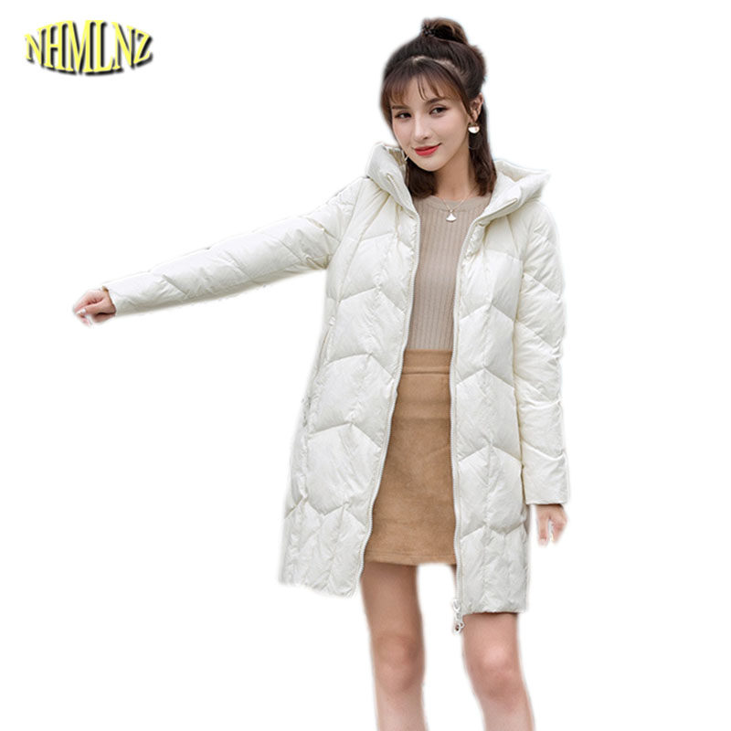 Women Winter   Down   Jacket Korean Style Fashion Hooded Jacket Thick Warm Overcoat Slim Large Size Leisure   Down     Coat   Female OK621