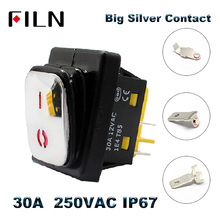цена на Heavy Duty 30A 250VAC Waterproof IP67KCD4 Rocker Switch Stainless Steel Rocker Switch on off dpst dpdt LED switch