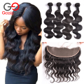 Gossip Girl Malaysian Body Wave With Closure Malaysian Virgin Hair With Closure Human Hair Lace Frontal Closure With Bundles