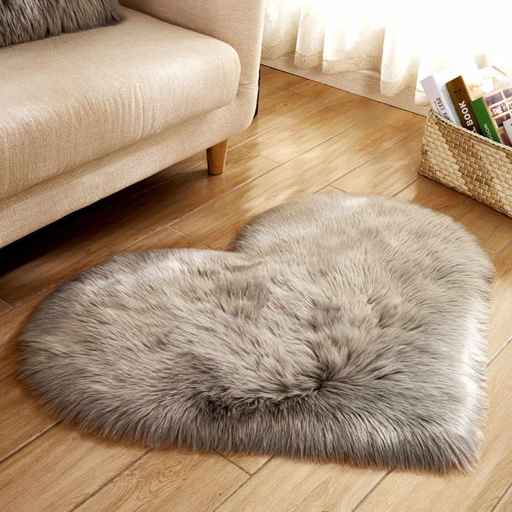 Hot Sale Wool Rugs Imitation Sheepskin Rugs Faux Fur Non Slip
