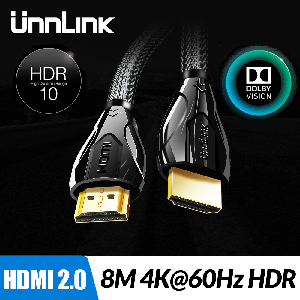 Unnlink Lengthy Hdmi Cable Uhd 4K@60Hz Hdmi 2.zero Hdr 3M 5M 8M 10M 15M 20M 25M For Splitter Change Ps4 Television Mi Xbox Projector Pc