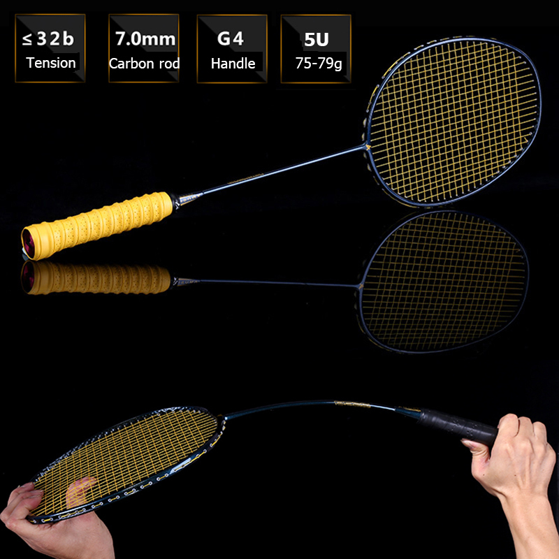 LOKI Galaxy Green High Tension Badminton Racket Super Light Carbon Badminton Racquet 75g 22-32 LBS free Overgrip new arrival arc10 5u 77g super light badminton racket 100% carbon black white badminton racquet traning racket