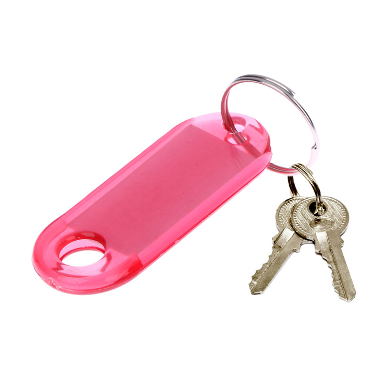 60Pcs Key Tags Mixed Colorful Frosted Plastic Luggage ID Bag Label Key Card Tags Keychain Plastic Shell Alloy Keyring Storsge