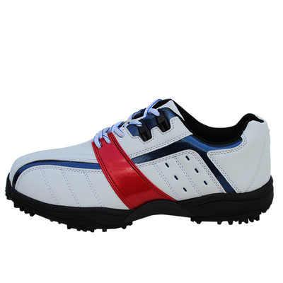 הגעה חדשה גולף נעלי גברים ספורט סניקרס סינטטי עור עמיד למים רך outsole מצויד מסמר שחור ולבן נעלי ספורט