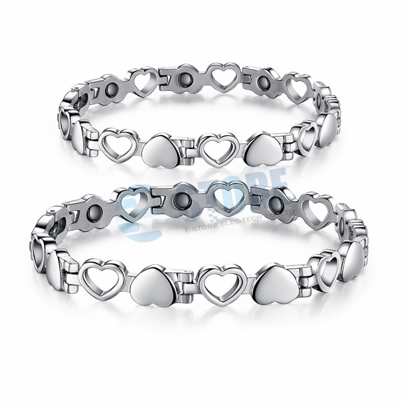 Lover's Bracelets Lover Heart Design 316L Stainless Steel Jewelry Bangles With Magnetic Energy Balls Fashion Accessories-in Hologram Bracelets from Jewelry & Accessories    2