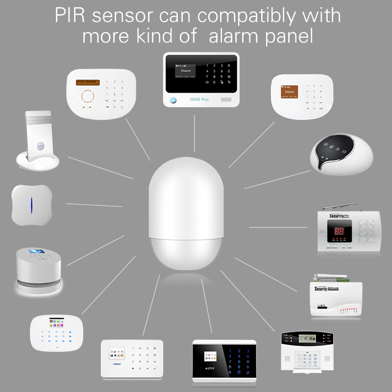 P829 Wireless PIR Motion Detector for our G18 W1 W2, G19 X1 Alarm System Smart Home Motion Detector Sensor With Battery golden security diy kit p819 wireless intelligent pir motion detector sensor for kerui g18 g19 w1 w2 w193 wifi gsm alarm system