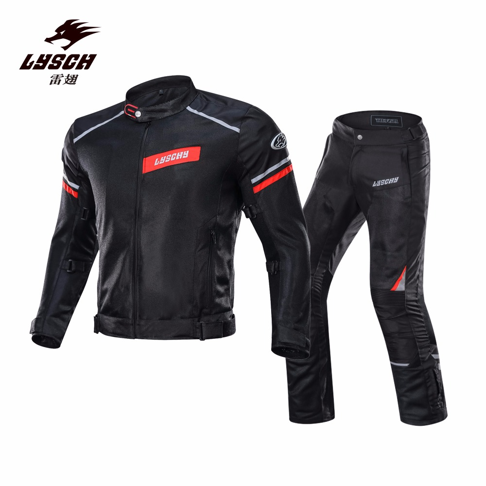 LYSCHY 2018 New Motorcycle Jacket Summer Mesh Moto Racing Jacket Men s Motorcycle Protective Gear Clothing