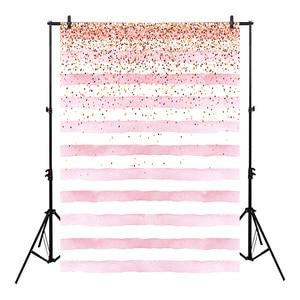 Image 1 - Neoback Bokeh Foto Achtergrond Verjaardag Achtergrond Party Achtergronden Levert Props Shiny Roze En Witte Strepen Achtergronden Studio