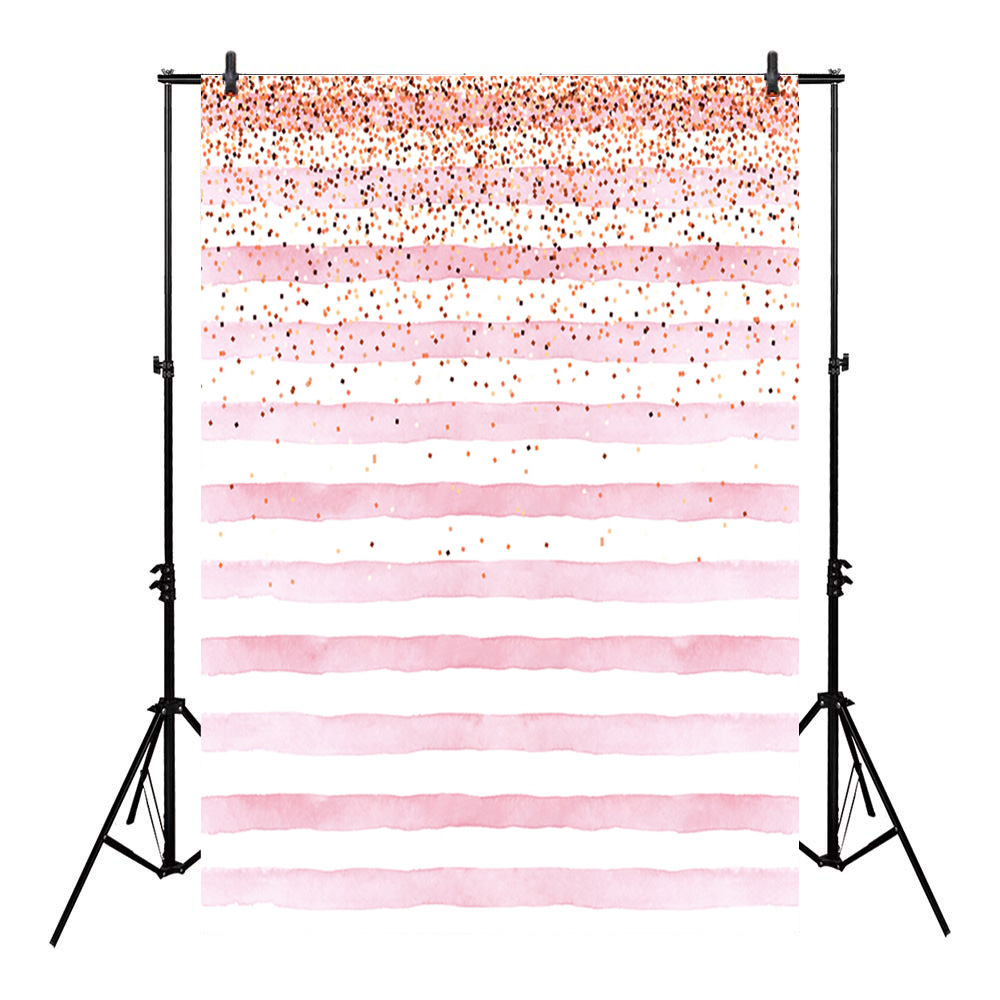 Neoback Bokeh Photo Background Birthday Backdrop Party Backgrounds Supplies Props Shiny Pink and White Stripes Backdrops Studio-in Background from Consumer Electronics