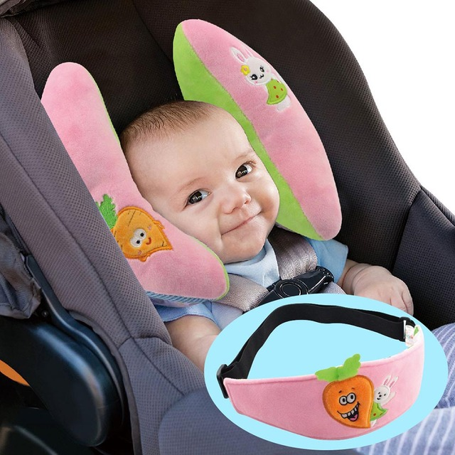 Us 15 56 Baby Protective Pillow Eyepatch Banana Shape Neck Fixed Newborn Toddler Head Support Car Seat Pillows Yh 17 In Strollers Accessories From