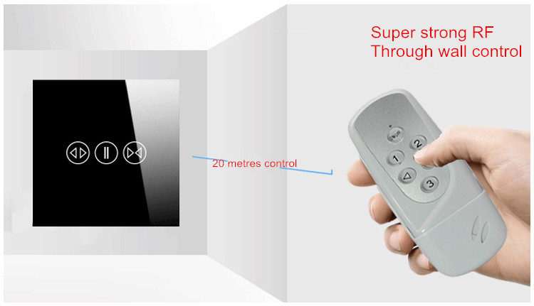 Touch electric remote control switch