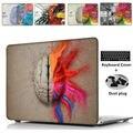 """Уникальный Левый и Правый Мозг Pattern Воздуха 13 11 Crystal Clear Case для Macbook Pro Retina 13 15 Hard Cover Для Mac book 12"""""""