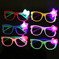 3pcs / lot KT Cat kid toy LED Light Up glasses luminous flash toys creative new peculiar Night Rave Costume Party random colors