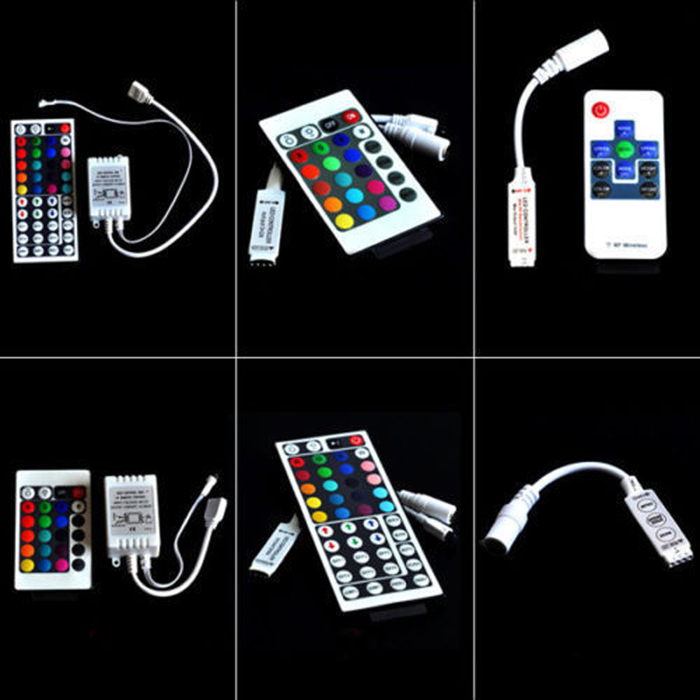 Dc12 24v Mini 3 24 44 Key Ir Remote Wireless Controller Dimmer Dynamic Mode Infrared For Rgb Smd 3528 5050 Led Strip Lights