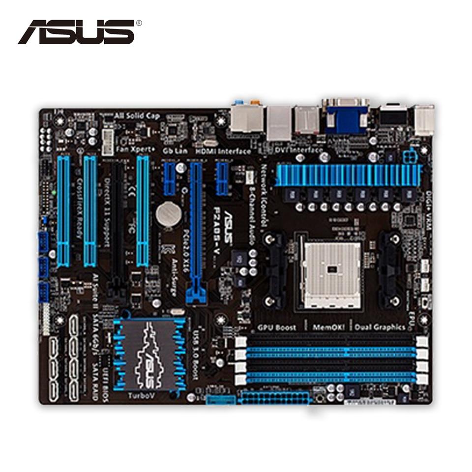 Asus F2A85-V Original Used Desktop Motherboard A85X  Socket FM2 DDR3 64G SATA3 USB3.0 ATX used original for biostar hi fi a85s2 fm2 motherboard for amd a85 usb3 0 sata3 motherboard