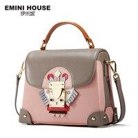 EMINI HOUSE Indian Style Luxury Handbags Women Bags Designer Split Leather Crossbody Bags For Women Shoulder