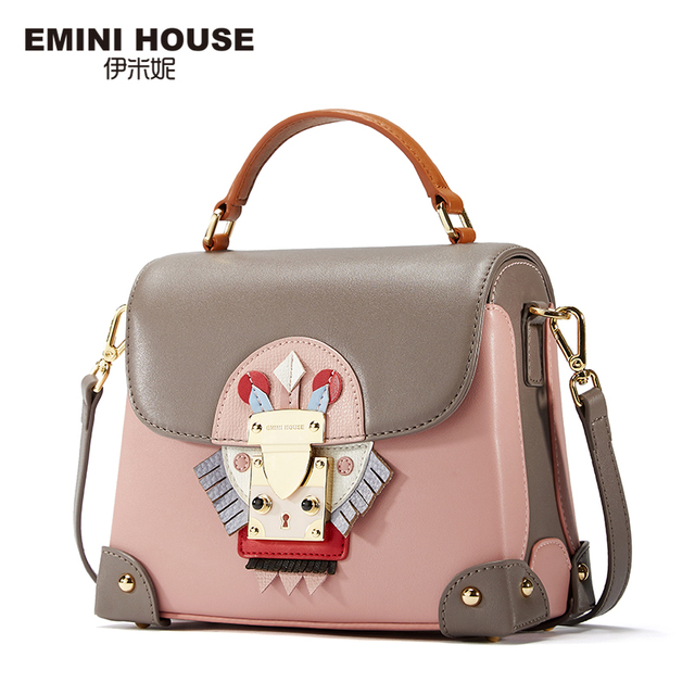 EMINI HOUSE Indian Style Luxury Handbags Women Bags Designer Split Leather Crossbody Bags For Women Shoulder Messenger Bag