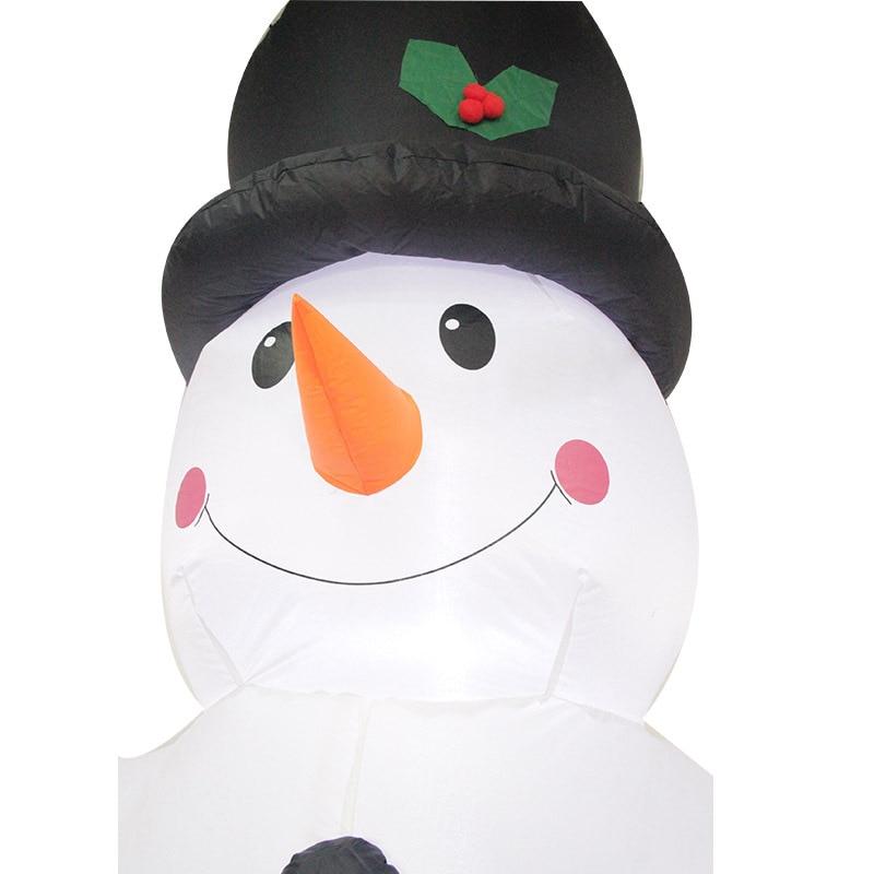 2,4 м Гигантские Надувные Снеговик Blow Up Игрушка Санта Клаус Новогоднее украшение для Отели ужин Рынок развлекательные центры праздник - 5