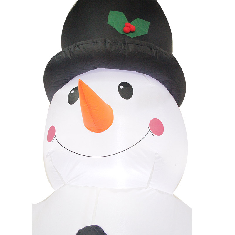 2,4 M gigante muñeco de nieve inflable soplado juguete Santa Claus decoración de Navidad para hoteles cena mercado entretenimiento lugares de vacaciones - 5