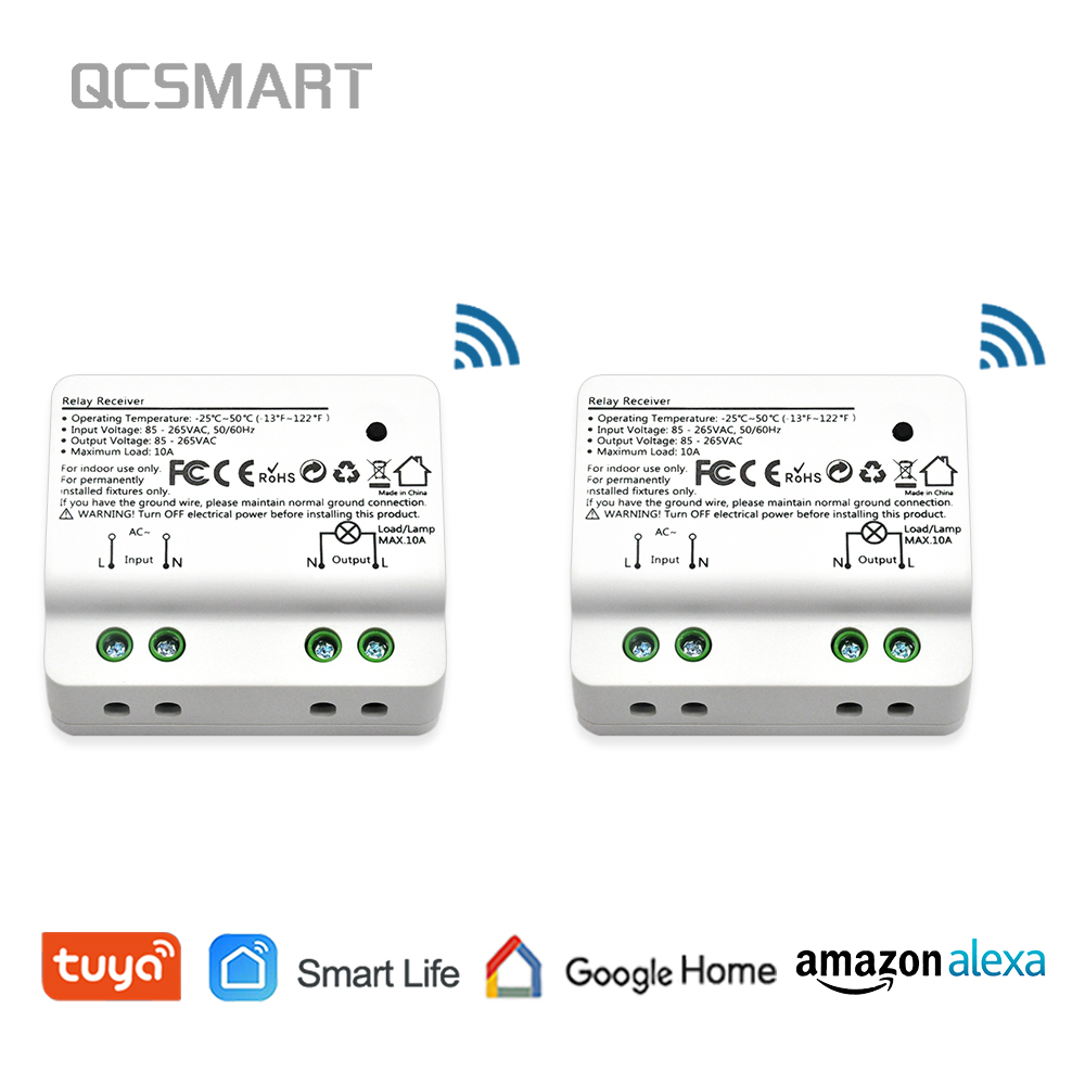 Tuya Smart Life WiFi Light Switch Alexa Echo, Google Home Voice Control,  10A, App Remote Control Lights, Set Timer for Lamps