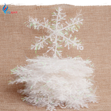 10 20 Packs White Snowflake Christmas Decortions For Home Christmas Tree Ornaments Holiday Festival Party Navidad