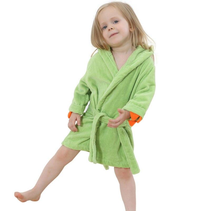 Dropwow 2018 Fashion Baby Girls Bathrobes Green Dinosaur Robe ... 0eda1defa