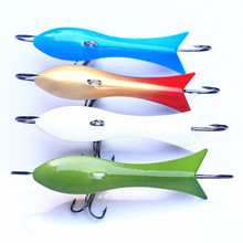 KKWEZVA New 4pcs/lot 60mm 9.3g Ice jig Fishing Lure winter Ice Fishing metal Hard Bait Minnow Pesca Tackle Isca Artificial Bait
