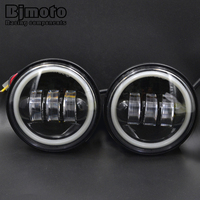 BJMOTO High Quality 4 5 Inch 30W LED Driving Fog Light DRL With Angel Eyes Passing
