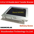 DEBROGLIE  NEW 2.5 to 3.5 Double-deck Transfer Bracket for Double SSD /HDD with 8PCS Screw   One of  Tray  Combination