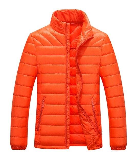 Случайные Сверхлегкий Мужские 90% белая Утка Вниз Куртки Осень и Зимняя Куртка Мужчины Легкий Утка Вниз Куртка Мужчины Пальто